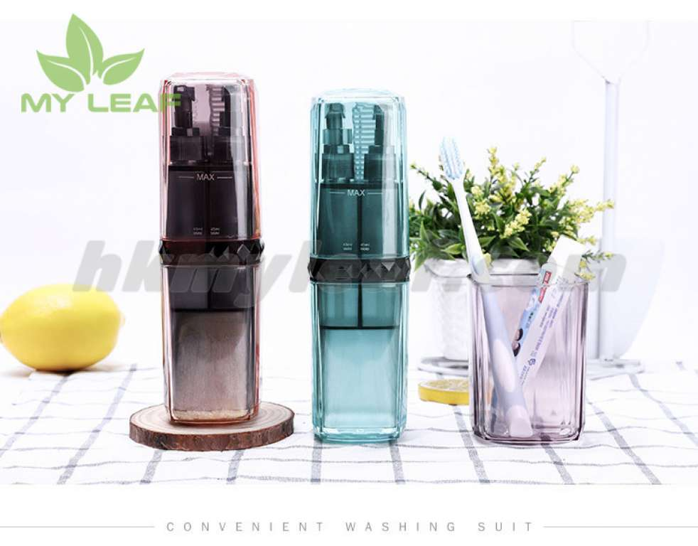 Wash Cup แก้วใส่อุปกรณ์อาบน้ำ ขวดแบ่งใส่ของเหลว สำหรับเดิน กล่องเก็บแปรงสีฟัน ใช้เป็นแก้วน้ำได้ กล่องใส่แปรงพกพา ที่เก็บแปรงสีฟัน กล่องใส่ของ ที่ใส่ยาสีฟัน Travel Brushing