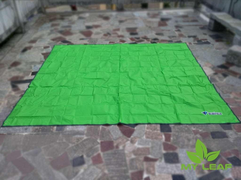 MY LEAF BUFD01GN เสื่อปิคนิค ผ้าปูพื้น แผ่นรองนอน แบบกันน้ำ ขนาด 240 x 220 cm (สีเขียวอ่อน)