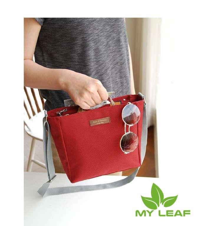 ผู้หญิงกระเป๋าแพคเกจความจุขนาดใหญ่หลายชั้นซิป