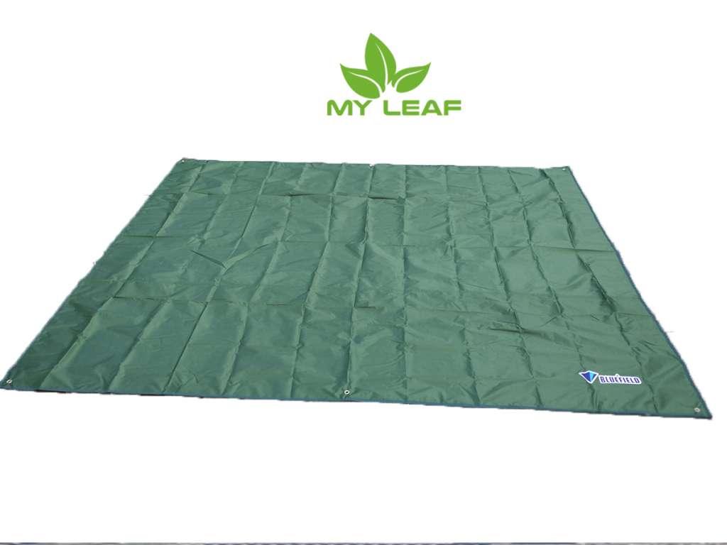 MY LEAF BUFD01DKGN เสื่อปิคนิค ผ้าปูพื้น แผ่นรองนอน แบบกันน้ำ ขนาด 240 x 220 cm (สีเขียวเข้ม)