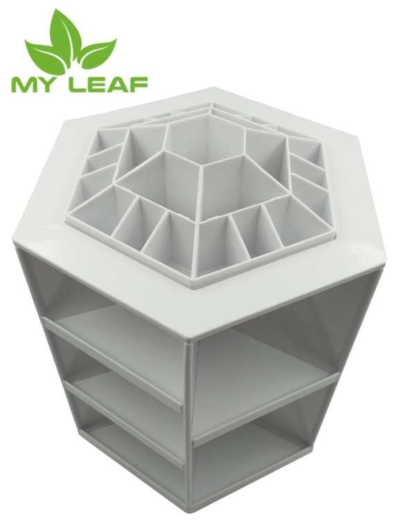 MYLEAF CSB01WT ชั้นเก็บเครื่องสำอางหมุนได้360องศา (สีขาว)