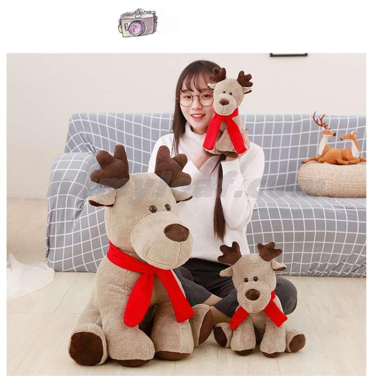 ตุ๊กตาของเล่นกวางคริสต์มาสกวางของขวัญของเล่นคริสต์มาส Christmas deer doll