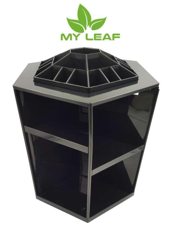MYLEAF CSB01BK ชั้นเก็บเครื่องสำอางหมุนได้360องศา (สีดำ)