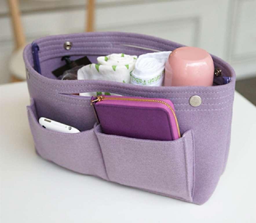 ที่จัดระเบียบกระเป๋า ฐานรองกระเป๋า กระเป๋าจัดระเบียบ Insert Bag Bag in Bag organizer