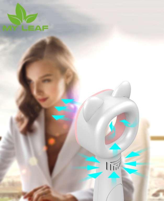 พัดลม พัดลมไร้ใบพัด พัดลมสไตล์การ์ตูน พัดลมขนาดเล็กแบบพกพา พัดลมตั้งโต๊ะ Whirlwind Cool Blade-Less Mini Fan