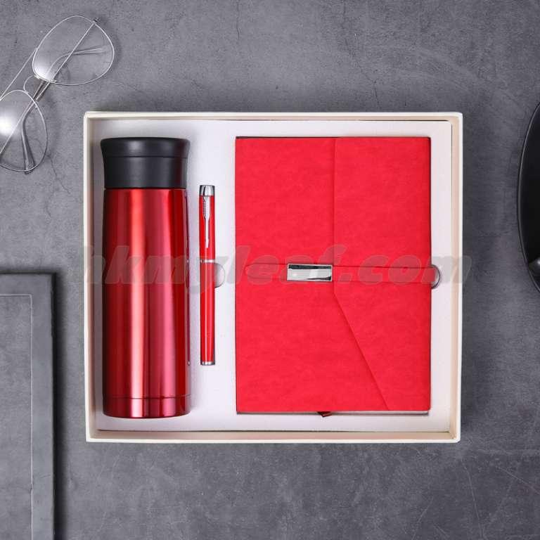 โน้ตบุ๊คธุรกิจกล่องของขวัญชุด Binding Make ฝาครอบชุดโลโก้ฉนวนโน้ตบุ๊คถ้วยน้ำ