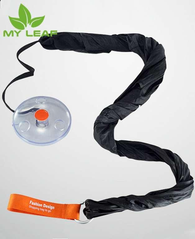 multi-functional folding retractable pouch small disc shopping bagsกระเป๋าช้อปปิ้งแผ่นดิสก์ขนาดเล็กกระเป๋าเก็บของพับ