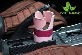 MY LEAF MCHG1PK ที่วางแก้วน้ำในรถและที่เก็บของในรถ เอนกประสงค์ (สีชมพู)