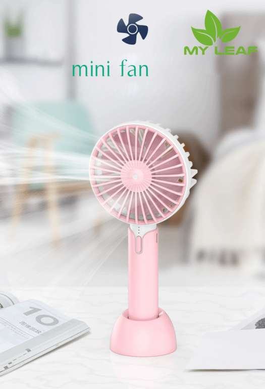Handheld Mini Fan พัดลมพกพาขนาดเล็ก ชาร์จสายUSB ใส่ถ่าน ลมแรง