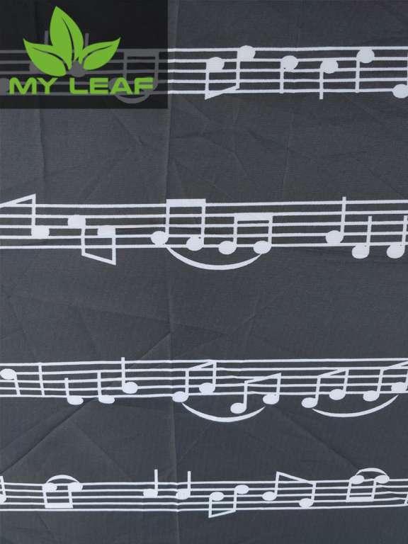 MY LEAF QLS45BK ร่มคู่รักพับ 3 ตอน กันน้ำ กันแดดUV(ลายโน๊ตเพลง)