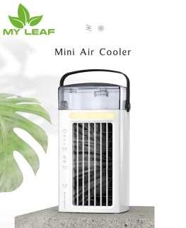มัลติฟังก์ชั่น Mini Usb Charging Air Cooler พัดลมพกพาพร้อม Power Bank / มินิรูมอัลตราโซนิกเครื่องฉีดน้ำพัดลมความชื้นเครื่องกรองกระจาย/Mini Room Ultrasonic Atomizer Air Humidifier fan Diffuser Purifier/Air Cooler Handheld Portable Personal Fan