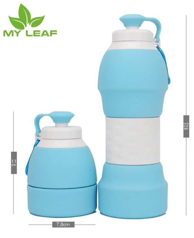ขวดซิลิโคนพับได้ ถ้วยกาแฟแบบหลุมแบบพกพาพับได้ ถ้วยน้ำชาพับได้ ขวดน้ำพับได้ ขวดสำหรับในร่มกลางแจ้งพับได้