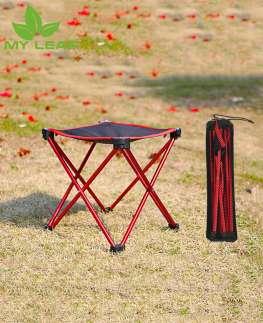 เก้าอี้พับ/เก้าอี้พับได้กลางแจ้ง/แคมป์พับแบบพกพาน้ำหนักเบาพิเศษ/เก้าอี้ตกปลาปิคนิคอลูมิเนียมอัลลอยด์พร้อมกระเป๋าเก็บของ/Outdoor portable folding stool