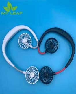 Mini Fan พัดลมแบบคล้องคอ  พัดลมพกพาขนาดเล็ก สายชาร์จUSB ลมแรง พัดลมคล้องคอ พัดลมแขวนคอ lazy sport fan