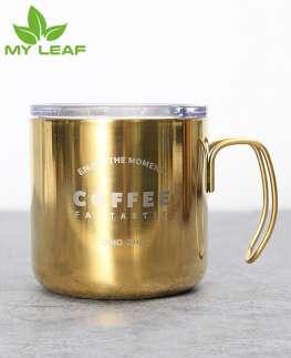 แก้วกาแฟสแตนเลสstarbucksถ้าวยกาแฟสีทอง