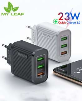 3USB travel charger  หัวชาร์จ Quick Charge