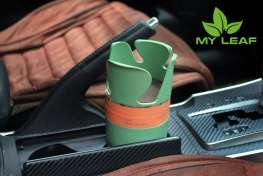 MY LEAF MCHG1GN ที่วางแก้วน้ำในรถและที่เก็บของในรถ เอนกประสงค์ (สีเขียว)